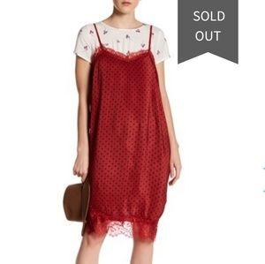 Free People Margot slip dress & Tee 2 piece set